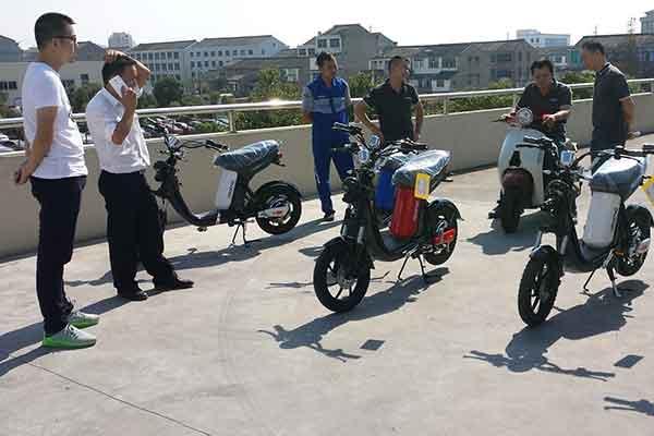 Electric pedal moped Evolts model design progress 7