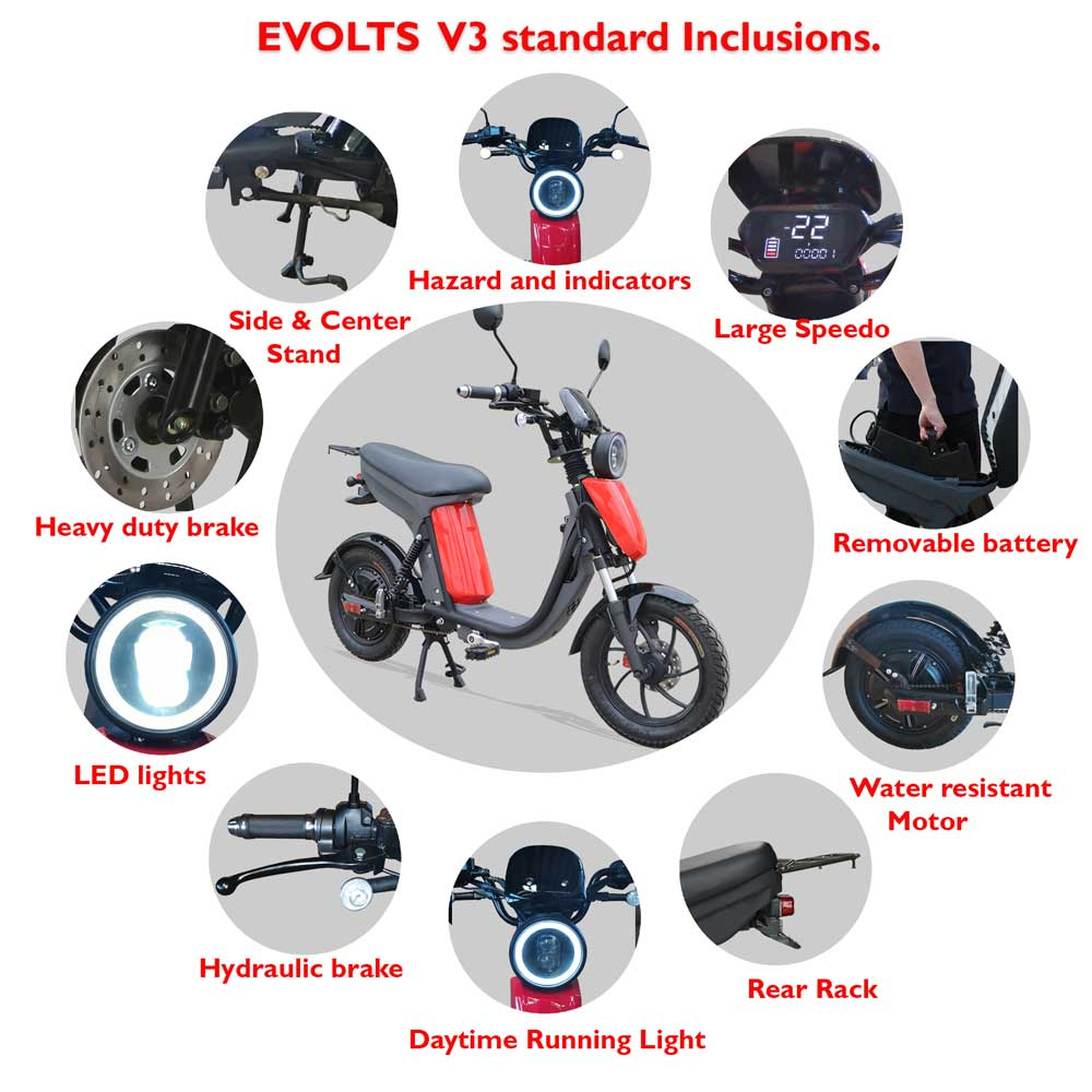 Evolts Electric Mopeds New Version Three 6