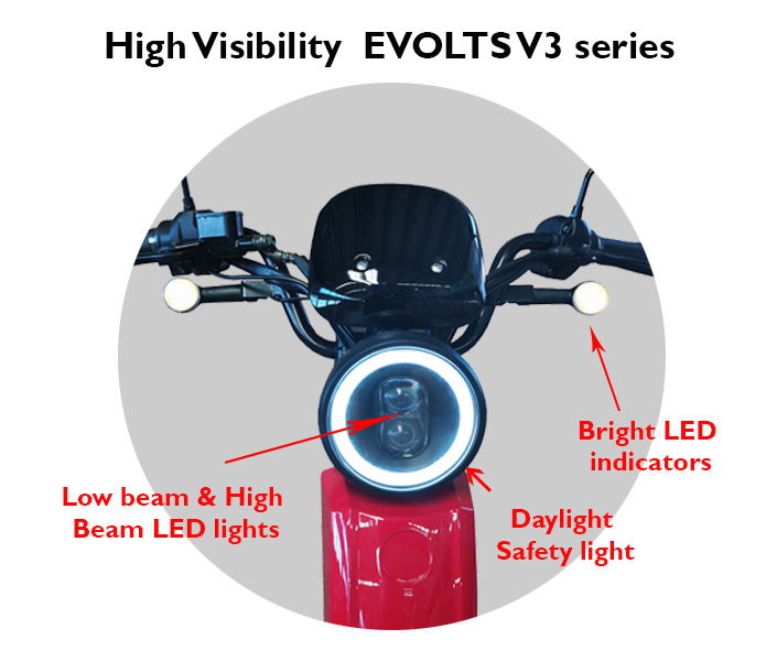 Evolts Electric Mopeds New Version Three 15