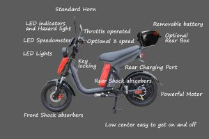 Evolts Electric Mopeds New Version Three 14